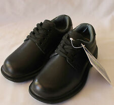BLUNDSTONE ~ Harford Black Leather Lace Up School Shoes NIB NEW 10.5 E Fit
