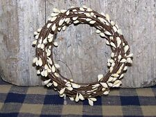 18 Ft IVORY Pip Berry Single Ply String Garland  Primitive Country Home Decor