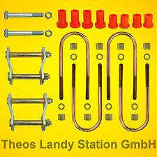2X Montage Kit für Blattfeder (3+2) MITSUBISHI L200, 1986-2005, Plattfeder,Feder