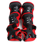 Kid Roller Skating Skateboard Knee Elbow Wrist Protective Guard Pad Gear Red