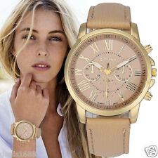 Vogue Women's Geneva Roman Watch Numerals Leather Analog Quartz Wrist Watches