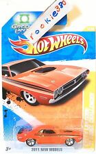 2011 Hot Wheels NEW MODELS #12 * GREEN LANTERN: '71 DODGE CHALLENGER * ORANGE