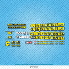 Cannondale CAAD5 Bicycle Decals - Transfers - Stickers - Yellow - Set 0539