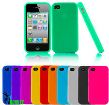 CUSTODIA CASE COVER FOR IPHONE 4 4S SILICONE GEL MORBIDA + PELLICOLA OMAGGIO