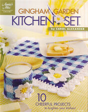 GINGHAM GARDEN KITCHEN Crochet Flower Pattern Book NEW