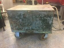LARGE IMPRESSIVE RUSTIC INDUSTRIAL VINTAGE CHIC BOX CHEST / COFFEE TABLE