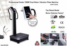 New Dual Motor 1500w Vibration Vibe Plate Exercise Cardio Machine Massager