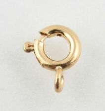 Small Spring Ring Clasp - 14k Yellow Gold Jewelry Making Repair Fine Findings