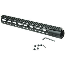 "13.5"" Ultralight Free Float Handguard Slim Keymod Rail, Steel Barrel Nut"
