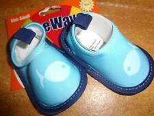 Kids Childrens Youth Toddler Wee Wave Water Shoes SZ Small 6-12 Mos. Blue Fish