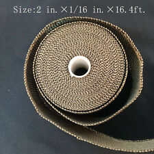 "Titanium Exhaust/Header Heat Wrap, 2"" x 16.4ft. Roll With Stainless Ties Kit New"