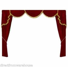 Decorative Burgundy Curtain ST1 Luxury Home Theater Velvet Screen Drape 10'WX7'H