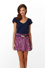 LILLY PULITZER Purple 'Charleston' Cotton Fluted A-Line Mini Skirt Lined Sz 2