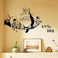 Anime My Neighbor Totoro WALL STICKERS Waterproof bedroom Bed Stickers Cos
