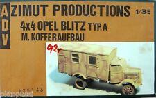 Acimut Productions 35143 4x4 Opel Blitz tipo. a con maleta construcción resin