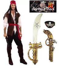 Pirate Carrabbean Fancy Dress, Pirate Costume, & FREE Pirate Sword Gun Set