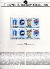1994 Tuvalu y las Islas Cook 25th Aniversario Alunizaje Menta 2 páginas