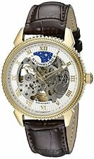 Stuhrling Original 835 03 Men's Automatic Self Wind Skeleton Brown Leather Watch