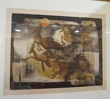"R.S. Riddick - L/E Etching & Aquatint "" And the Beasts of the Field"" Hand-signed"