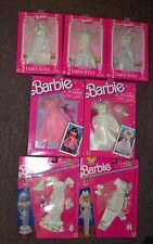 BRIDAL LOT of 7 Barbie Outfits Fashion Avenue, Wedding of  Year, easy to dress