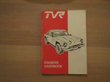 TVR 3000M Owners Manual