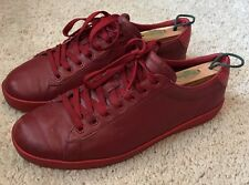 Men's Gucci Red Fashion Sneakers Size 8.5 G Red October Lace Up