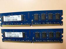 Elpida PC2-6400U 4GB (2X 2GB) DDR2-800MHz RAM CL6 (EBE21UE8AFFA-8G-F) 2RX8