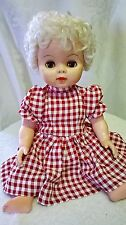 """Early 1960s Drink and Wet Baby Doll Sleeper Eyes Jointed 19""""  Vintage"""
