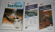 2010 AAA Illinois Indiana Ohio Tour Book & IL IN OH WV Maps Travel Guide Hotel