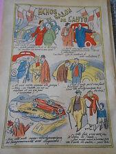 Echos du Salon de l'Auto Humour dessin Print 1935