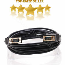 30FT Black HD15 PIN SVGA SUPER VGA Monitor Cable M Male Laptop PC Projector Cord