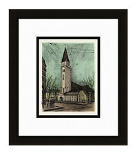 "Gallery Framed 1967 BERNARD BUFFET Color Lithograph ""Saint Germain des Pres"" COA"