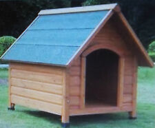Large Wooden Dog Kennel Outdoor Shelter Weather Proof Winter House 112x96x105cm