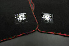 4 Pcs Red Trim Front Rear Nylon Floor Mats Rotary Emblem For 04-10 Mazda RX-8