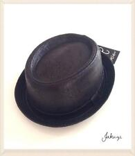 SMALL MENS HEISENBERG PORK PIE BREAKING BAD WALTER WHITE STYLE BLACK HAT MOD/SKA