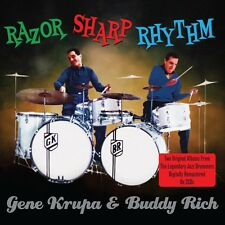 2 CD BOX RAZOR SHARP RHYTHM GENE KRUPA & BUDDY RICH BURNIN' BEAT
