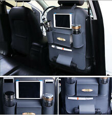 Gray PU Multi-Pocket Car Back Seat Organizer Holder Travel Storage Bag For ipad