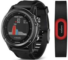 Garmin Fenix 3 HR Sapphire GPS Watch w/ Heart Rate Running Strap 010-01338-73