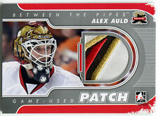 2011-12 ITG Between The Pipes ALEX AULD 4 Color Jersey Patch Silver /19 Rare SP