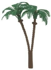 6 PARTY CAKE TOPPER HAWIIAN PALM TREE BEACH COCONUT CUPCAKE PICKS DECO
