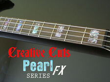 Blocks ABALONE Fret Markers Block Inlay Sticker Decals for Fender or ANY BASS