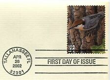 Longleaf Pine Forest-Brown-headed Nuthatch-1st day issue-Golden Replica