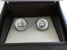 NEW 2016 Masters Augusta National Mother Of Pearl Logo Cuff Links cufflinks