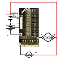 BMS/PCB/PCM for 50.4V(14S) Li-Ion Battery Pack(50A +/-10A limit)with Balance