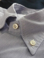 New! Brooks Brothers Artisanal Blue Gingham Shirt Size 15 Retail $278 Made Italy