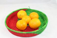 Gorgeous Classic Hand-Woven Natural Art Deco Fruit Bowl Tray Basket FREE POSTAGE