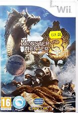 MONSTER HUNTER 3 TRI Nintendo Wii Game 2009-PAL-