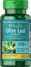 Olive Leaf Standardized Extract 150 mg x 60 Capsules  Oleuropein  AMAZING PRICE