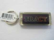 "Key Chain Solar TRACY Blinks on Both Sides 2.5""x1"""