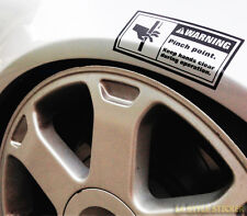 WARNING PINCH POINT Sticker Quetschgefahr Aufkleber low rider low static airride